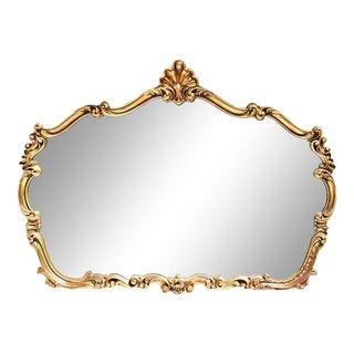 1970s Quoizel Gilt Rococo Mirror For Sale