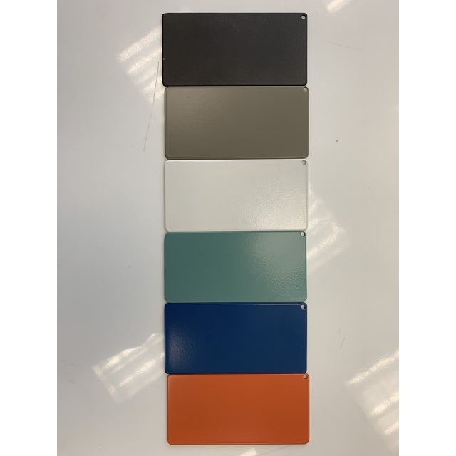 Metal Oomph Ocean Drive Outdoor Tray, Blue For Sale - Image 7 of 7
