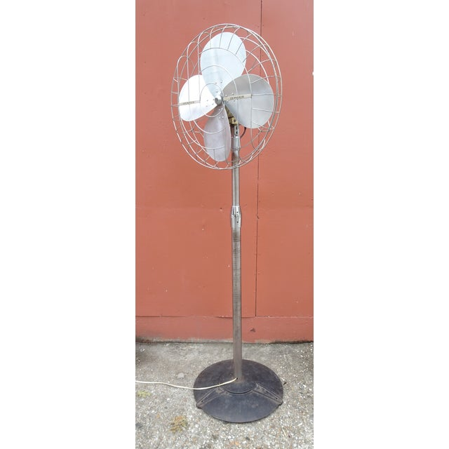 Hunter Zephair 2430 Bullet Back Industrial Pedestal Floor Fan For Sale - Image 13 of 13