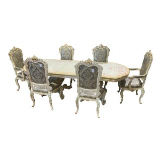 1980s Italian Baroque Dining Set - 7 Pieces For Sale