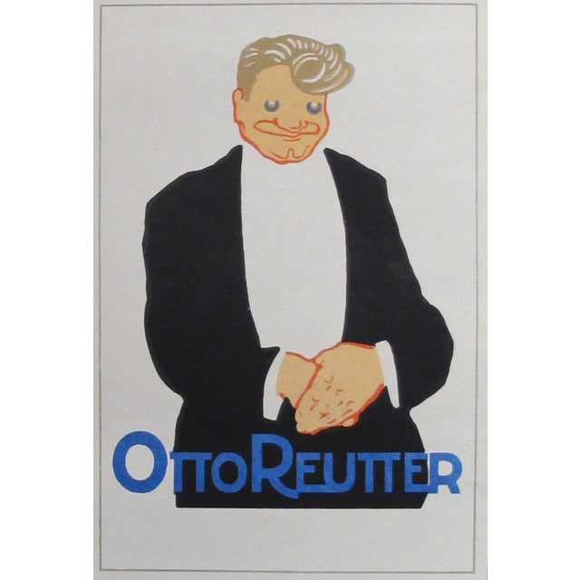 Original 1927 Reutter Lithographic Mini Poster For Sale