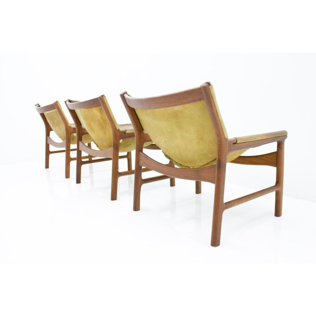 Danish Modern Rare Set of Three Lounge Chairs by Illum Wikkelsø for Mikael Laursen, 1972 For Sale - Image 3 of 9