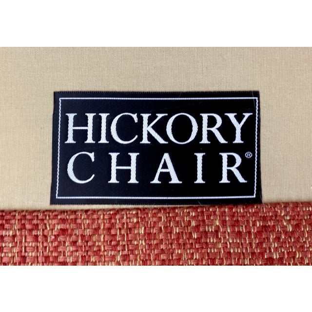 Hickory Chair Dressmaker Sofa With Red Textured Upholstery For Sale In Greensboro - Image 6 of 7
