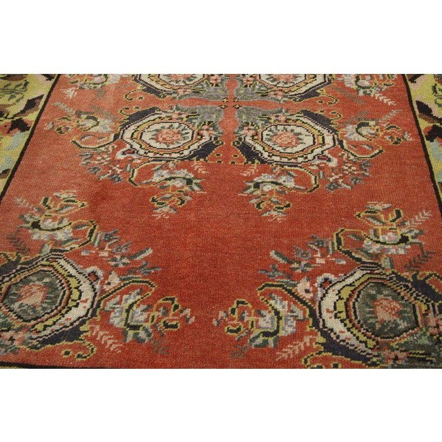 Vintage Turkish Oushak Gallery Rug Runner - 4'6 X 9'6 For Sale In Dallas - Image 6 of 8