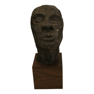 Head Sculpture on Stand For Sale