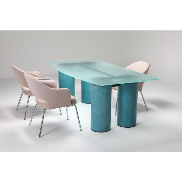 1970s Massimo Vignelli 'Serenissimo' Dining Table/Desk for Acerbis For Sale - Image 10 of 13