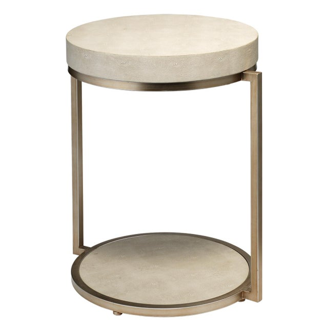 Transitional Chester Round Side Table For Sale - Image 3 of 3