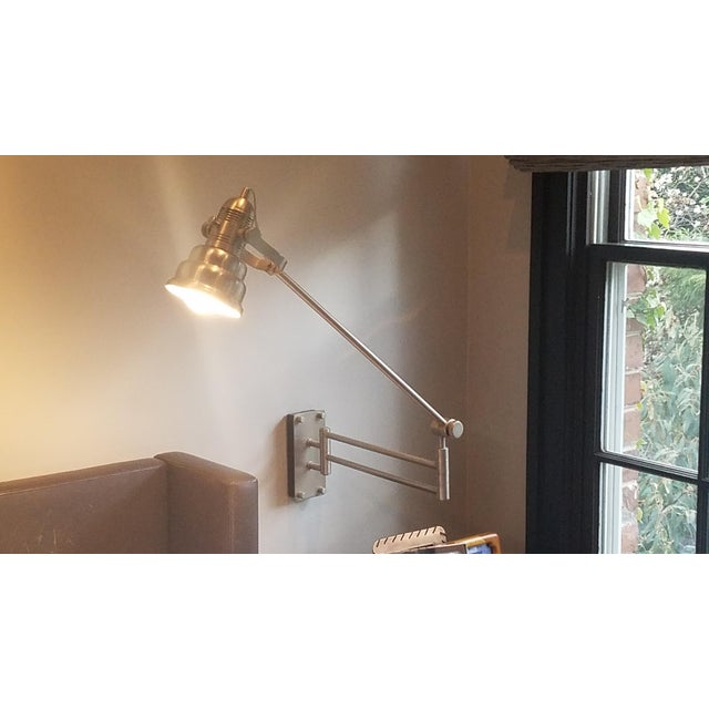 Articulated Industrial Cone Wall Lamps - A Pair - Image 5 of 7