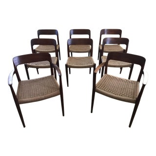 Niels Moller Danish Teak Dining Chairs - Set of 8