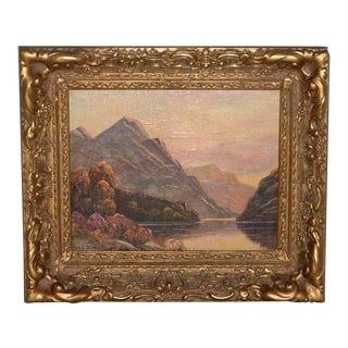 Thomas C. Blake Mountain Landscape Oil Painting C.1920 For Sale
