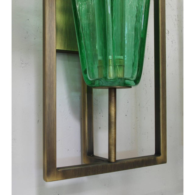 Green Architectural Star Sconces by Fabio Ltd (8 Available) For Sale - Image 8 of 9