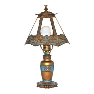 1925 Ronson Art Deco Egyptian Revival Lamp