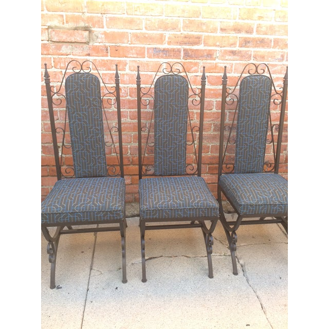 Midcentury Spanish Revival Dining Chairs - Set of 6 - Image 4 of 8