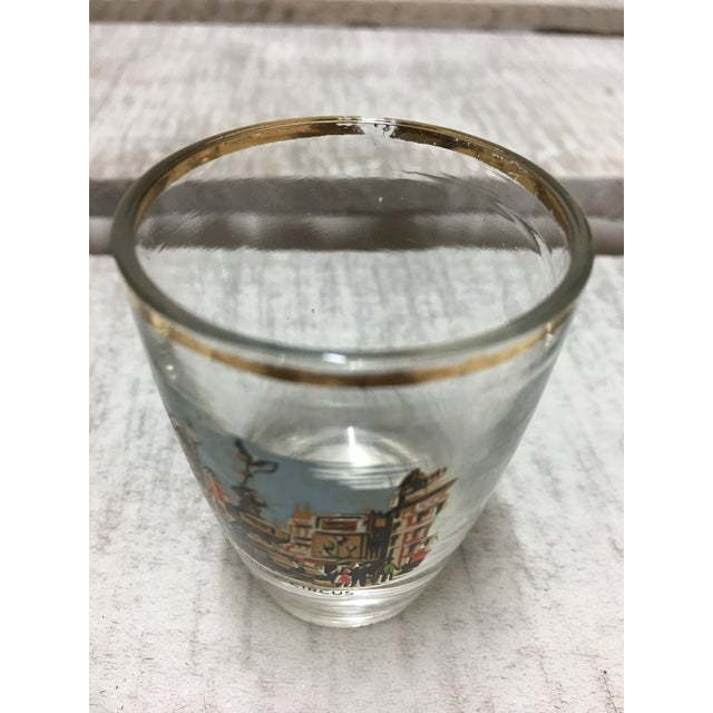 Glass Mid-Century London Shot Glasses - Set of 4 For Sale - Image 7 of 8