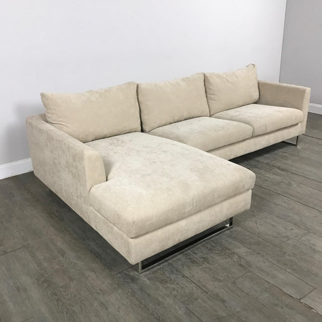 Modern Beige Sectional Sofa - Image 8 of 9
