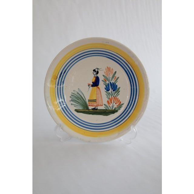 Henriot Quimper Antique French Quimper Plates - a Pair For Sale - Image 4 of 10