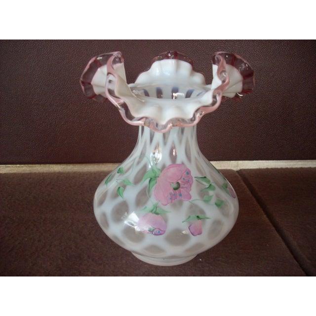 Vintage Fenton Glass Vase Chairish