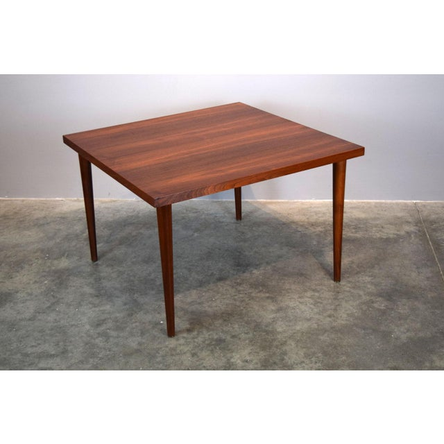 Brown Mid-Century Walnut Coffee or End Table For Sale - Image 8 of 8