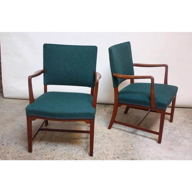 Wood Pair of Danish Modern Sculptural Teak Armchairs For Sale - Image 7 of 10