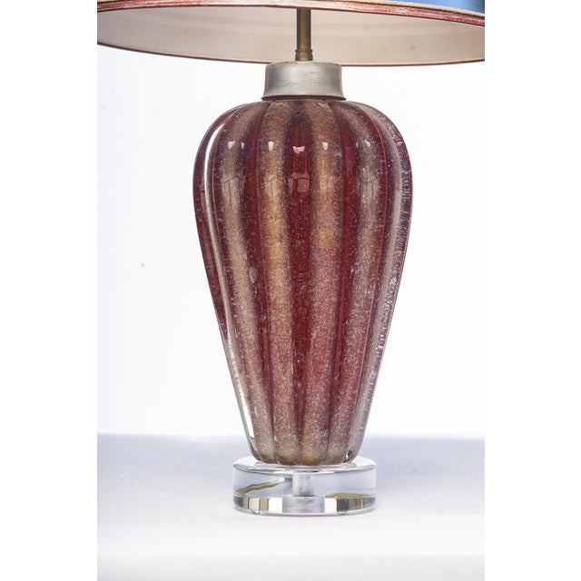 Mid-Century Modern Italian Mid-Century Murano Lamps - a Pair For Sale - Image 3 of 4