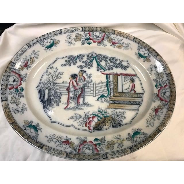 Chinoiserie Ironstone Platter - Image 2 of 6