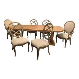 Thomasville Bogart Luxe Collection Burl Dining Set