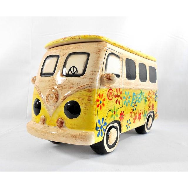 Yellow Hippie Van Ceramic Cookie Jar - Image 5 of 10
