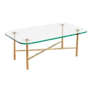 Italian Brass Cocktail Table For Sale