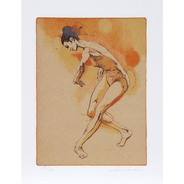 "Jim Jonson, ""Female Dancer,"" Lithograph - Image 1 of 2"