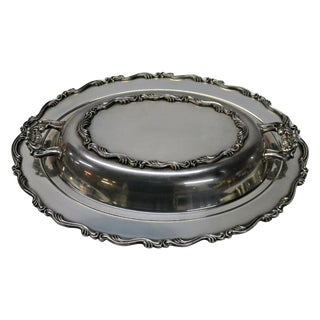 Silver Plated Covered Oval Server Dish