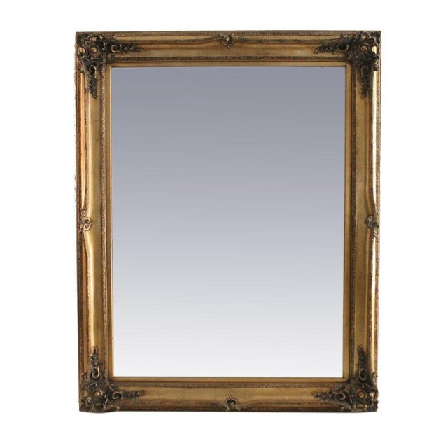 Carved Gold Gilded Mirror - Image 1 of 2
