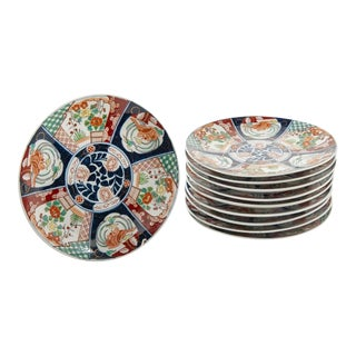 1960s Vintage Chinese Imari Chargers - Set of 10 For Sale