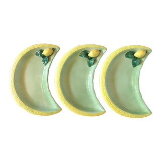 Vintage Italian Lemon Plates - Set of 3 For Sale