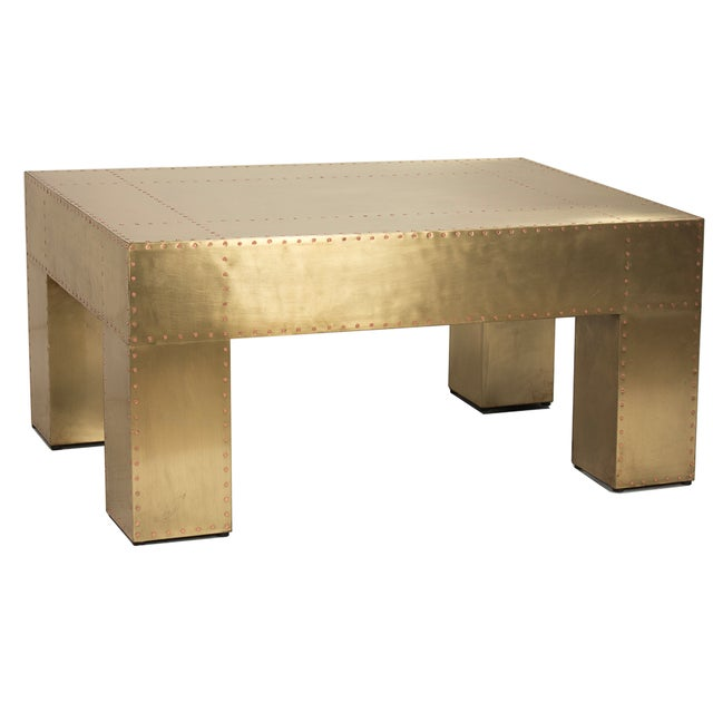 Sarried Ltd Sheet Brass Coffee Table - Image 2 of 2