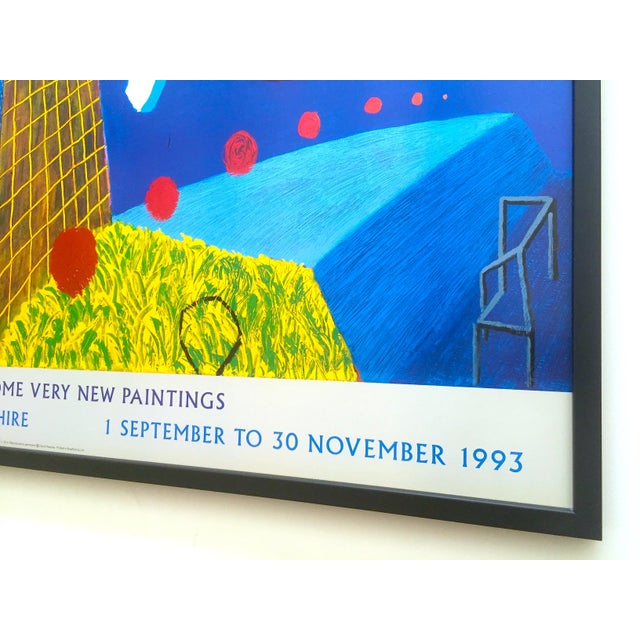 """David Hockney Rare Vintage 1993 """" the Other Side """" Lithograph Print Framed Collector's Pop Art Exhibition Poster For Sale - Image 12 of 13"""