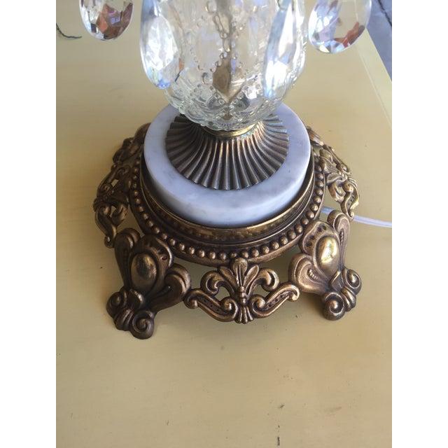 Vintage Hollywood Regency Bronze & Glass Table Lamp - Image 5 of 6