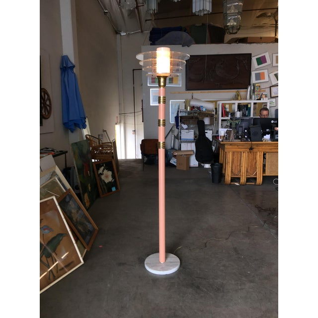 Art Deco Revival Memphis Style Floor Lamp, Circa 1980 For Sale - Image 10 of 10
