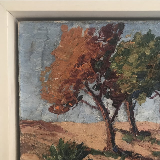 Early 20th Century Vintage Impasto Landscape Painting For Sale - Image 5 of 8