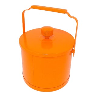 Mid-Century Modern Orange Ice Bucket