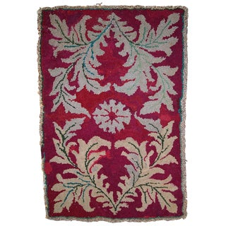 1920s, Hand Made Antique American Hooked Rug 2' X 3' For Sale