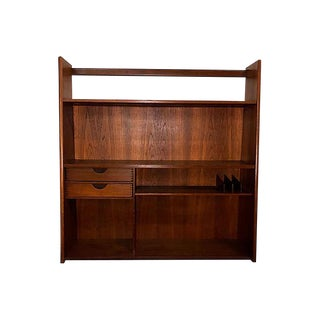 Danish Teak Floating Wall Shelf For Sale