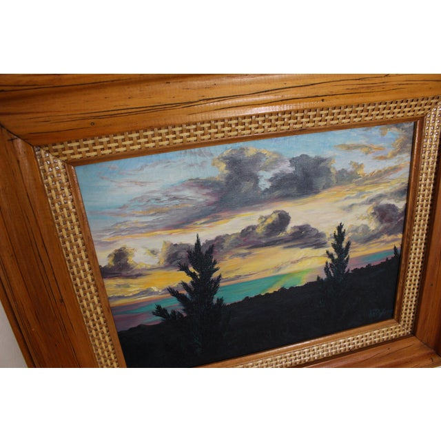 John De Ponce Hawaiian Sunset Landscape Painting - Image 4 of 11