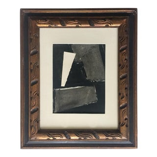 Abstract Painting Collage Black and Grey For Sale