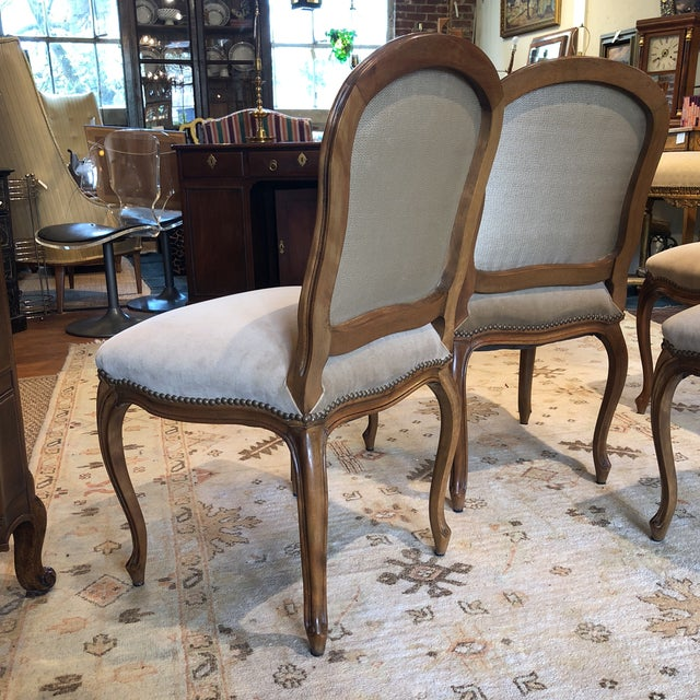 Louis XV Style Walnut Dining Chairs - Set of 4 - Image 6 of 9