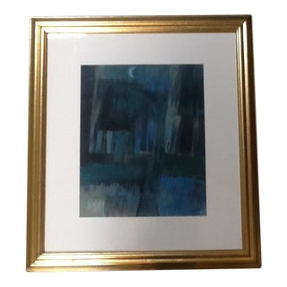 1960s Original Framed Pastel For Sale