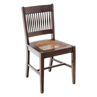 Arts and Crafts Caned Side Chair