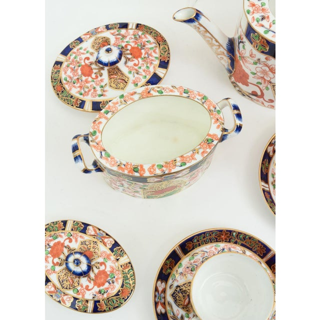 Antique England Royal Crown Derby Imari Porcelain Tea Service . For Sale In New York - Image 6 of 13