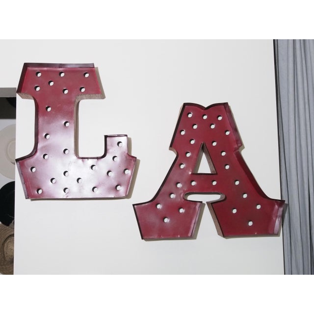 1980s Vintage L.A. Channel Letter Signs- A Pair For Sale - Image 9 of 9