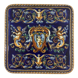 Gien Renaissance Pattern Faience Trivet