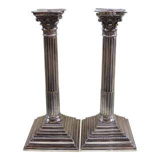 Corinthian Column Candlesticks - A Pair For Sale